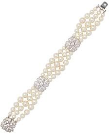 Rhodium Plated Wedding Bracelet