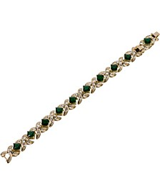 18k Gold Plated Emerald Kisses Bracelet