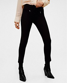 Zip-Pocket Slim-Fit Trousers