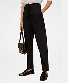 Belted Suit Trousers