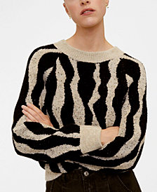 MANGO Jacquard Sweater