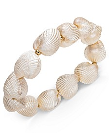 INC Gold-Tone Imitation Shell Stretch Bracelet, Created for Macy's