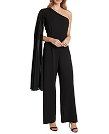 Chiffon One-Shoulder Jumpsuit
