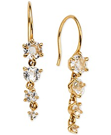 Crystal Graduated Drop Earrings