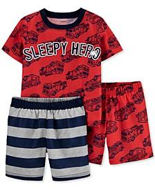 Toddler Boys 3-Pc. Sleepy Hero Pajamas Set