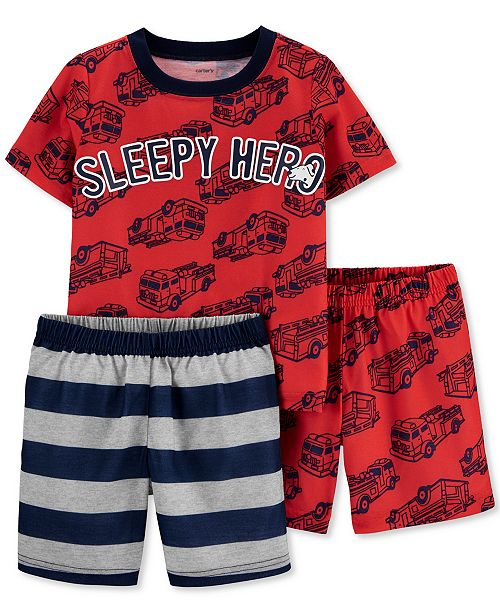 Carter's Toddler Boys 3-Pc. Sleepy Hero Pajamas Set