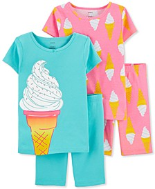 Little & Big Girls 4-Pc. Ice Cream Cone Cotton Pajamas Set