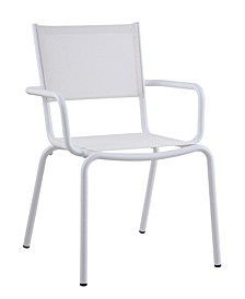 Ventura Textilene Outdoor Arm Chair with Aluminum Frame, Set of 4