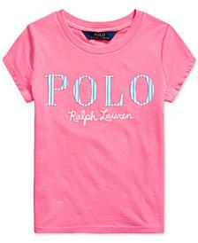 Little Girls Stripe Logo Cotton Jersey T-Shirt
