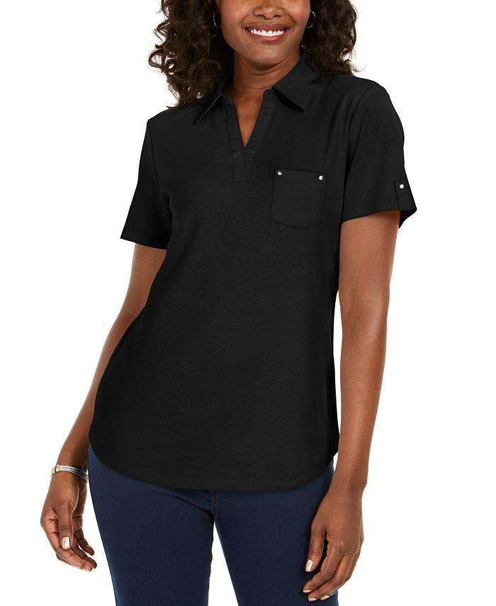 Karen Scott - Cotton Polo Shirt