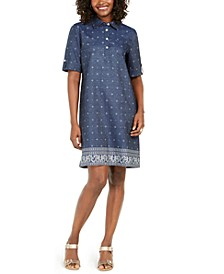 Petite Chambray Shirtdress, Created for Macy's