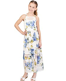 Big Girls Crochet Inset Maxi Dress