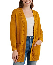 Cable Open-Front Cardigan