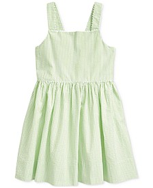 Little Girls Cotton Seersucker Dress