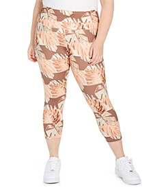 Plus Size Fast Crop Running Tights