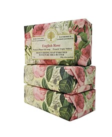 English Rose Soap with Pack of 3, Each 7 oz