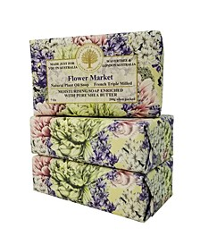 Flower Market Soap with Pack of 3, Each 7 oz