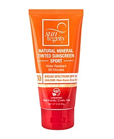Broad Spectrum SPF 30 Natural Mineral Tinted Sport Sunscreen, 3 oz