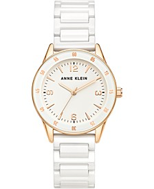 Women's White Ceramic Bracelet Watch 33mm