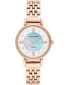 Women's Considered Solar Powered Rose Gold-Tone Bracelet Watch 30mm