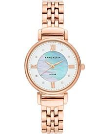 Women's Considered Solar Powered Rose Gold-Tone Bracelet Watch 30mm
