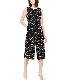Jessica Howard Petite Double-Dot Jersey Jumpsuit