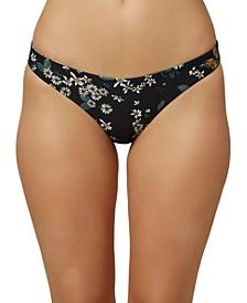 Juniors' Raven Printed Reversible Hipster Bikini Bottoms, Created for Macy's