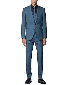 BOSS Men's Huge / Genius Pastel Blue Suit