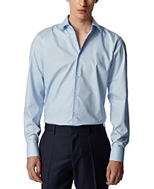 BOSS Men's Gelson Pastel Blue Shirt