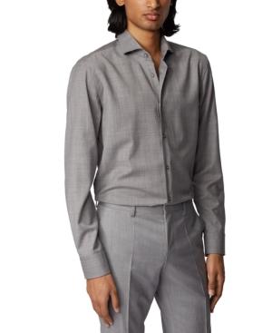 Boss Men's Jason Silver Shirt