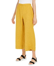 Organic Linen Cropped Pants