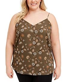Plus Size Floral-Print Camisole Top