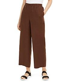Organic Linen Ankle Pants