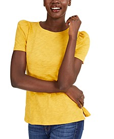 INC Slub Puff-Sleeve T-Shirt, Created for Macy's