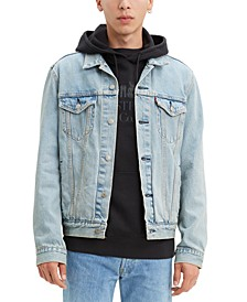 Men's Pieced Denim Trucker Jacket