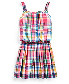 Big Girls Cotton Madras Dress