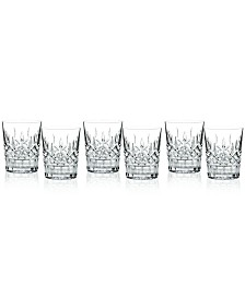Waterford Barware, Lismore Double Old Fashioned Glasses, Set of 6