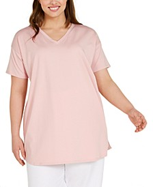 Plus Size V-Neck Tunic Top