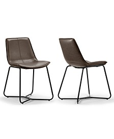 Set of 2 Amery Iron Frame Vintage-like Dining Chair