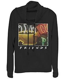 Friends Framed Central Perk Coffee Sign Cowl Neck Women's Pullover Fleece