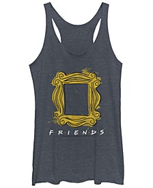 Friends Yellow Door Picture Frame Logo Tri-Blend Women's Racerback Tank