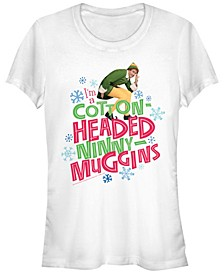 Elf I'M A Cotton-Headed Ninny-Muggins Buddy Quote Women's Short Sleeve T-Shirt