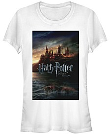 Harry Potter Hogwarts Deathly Hallows Poster Women's Short Sleeve T-Shirt