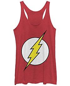DC The Flash Classic Lightning Bolt Logo Tri-Blend Women's Racerback Tank