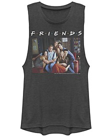 Friends Central Perk Couch Group Portrait Festival Muscle Women's Tank