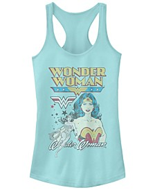 DC Wonder Woman Portrait Star Logos Women's Racerback Tank