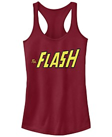 DC The Flash Text Logo Women's Racerback Tank