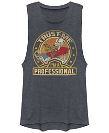 Looney Tunes Wile E. Coyote Trust Me I'M A Professional Festival Muscle Women's Tank