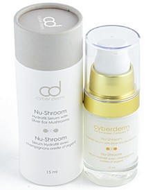 Cyberderm Nu-Shroom Hyaluronic Acid Serum with Silver Ear Mushrooms, 0.5 Oz