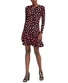 Printed Flounce Dress, Regular & Petite